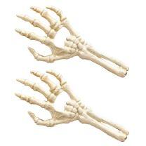 Design Toscano Skeleton Hand of Destiny Bottle Openers, Set of 2, Faux Bone Finish