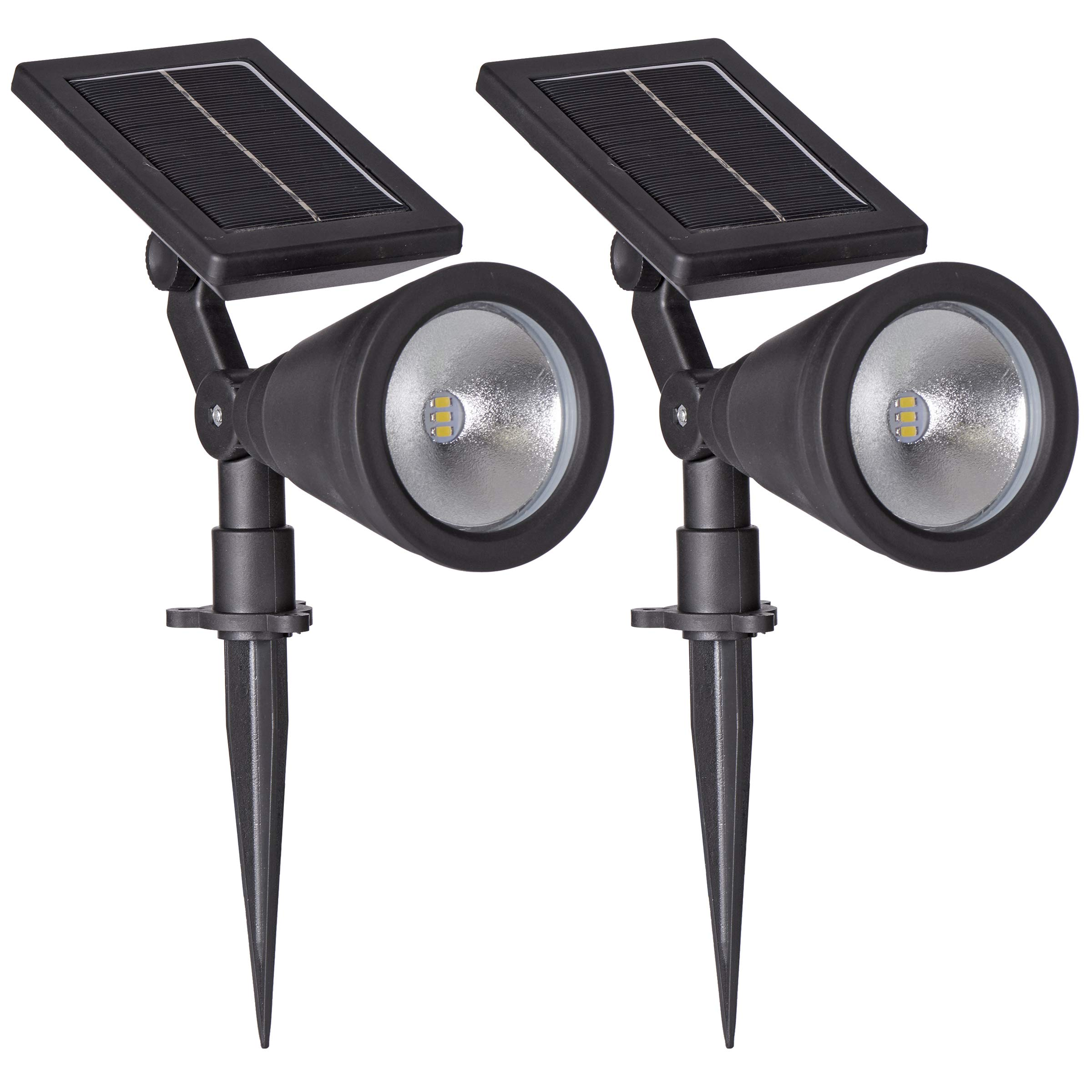 Sterno Home GL40460 Outdoor Solar LED Black Light Kit, Ground or Wall Mountable, Landscape Waterproof Security Lighting with Adjustable Spotlight for Patio, Porch, Deck, Garden, Pool - 2 Pack