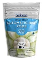 Biokleen Automatic Dish Pods, Dishwasher Detergent, Concentrated, Phosphate & Chlorine Free, Eco-Friendly, Non-Toxic, Free & Clear, 20 Pods, Single