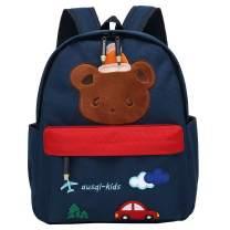 willikiva Cute Bear Preschool Backpack for Kids Boys and Girls Toddler Backpack Waterproof Kindergarten Bag(Bear Blue)