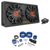 Rockville RG212CA 2000w Dual 12 inches Vented Powered Car Subwoofer Enclosure+Amp Kit
