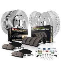 Power Stop KOE15202DK Daily Driver Pad, Rotor, Drum and Shoe Kit (Front and Rear)