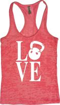 Womens Workout Tank - Kettlebell Love - Burnout Crossfit Tops Clothes