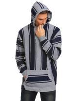 COOFANDY Men's Hip Hop Hoodies Tribal Style Pullover African Dashiki Sweatshirts Outwear