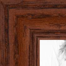 ArtToFrames 18x25 inch Walnut Stain on Solid Red Oak Wood Picture Frame, 2WOM0066-59504-YWAL-18x25