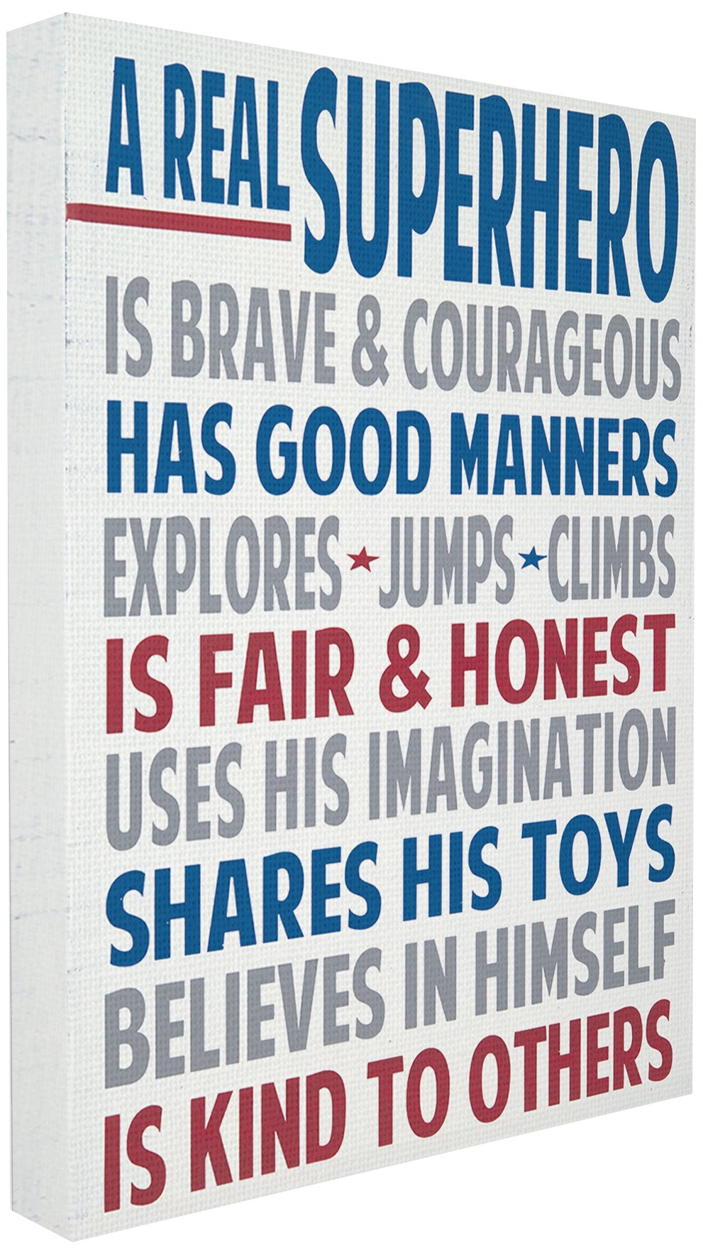 Stupell Industries Typography Plaque, A Real Superhero Canvas Wall Art, 30 x 40, Design by Artist Words for The Soul