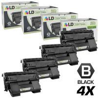 LD Remanufactured Toner Cartridge Replacement for Okidata 52123601 (Black, 4-Pack)