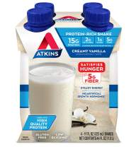Atkins Gluten Free Protein-Rich Shake, Creamy/French Vanilla, Keto Friendly, 4 Count (Packaging may vary)