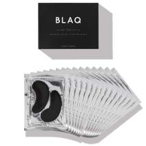 Activated Charcoal Under Eye Mask with HydroGel by BLAQ - Depuffing Eyes & Dark Circles Removing Gel Pads, Natural Hydrating and Anti Wrinkles Eye Patches - Pack of 15