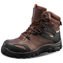Men's Work Boots Composite/Steel Toe Waterproof Leather Anti-slip Antistatic Construction Shoes
