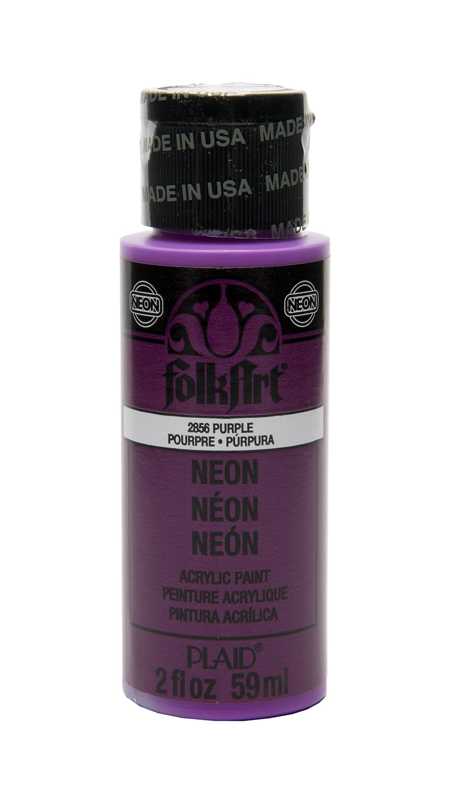 FolkArt Purple Neon Acrylic Paint in Assorted Colors (2 Ounce), 2856