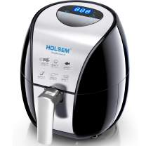 HOLSEM Digital Air Fryer with Rapid Air Circulation System, 3.4 QT Capacity with LED Display - Black/Stainless Steel