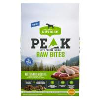 Rachael Ray Nutrish PEAK Natural Dry Dog Food with Freeze Dried Raw Bites, Wetlands Recipe with Chicken & Duck, 12 Pounds, Grain Free