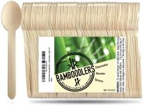 """Disposable Wooden Spoons by Bamboodlers   100% All-Natural, Eco-Friendly, Biodegradable, and Compostable - Because Earth is Awesome! Pack of 100-6.5"""" Spoons."""
