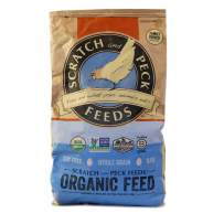 Scratch and Peck Feeds - Organic 3-Grain Scratch Hen Treat - Non-GMO Project Verified, Soy Free and Corn Free