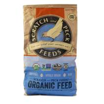 Naturally Free Organic Starter Chick Feed - 25-lbs - Non-GMO Project Verified, Soy Free and Corn Free - Scratch and Peck Feeds