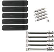 Hisencn Repair kit Gas Grill Burner Tube, Crossover Carryover Tubes, Heat Plate Tent Shield Deflector, Igniter Replacement for Charbroil 5 Burner Commercial 463268806 Gas Grill Models