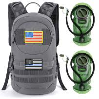 Gelindo Hydration Pack Backpack, 900D Tactical MOLLE Backpacks with 2 packs of 2L Hydration Bladder, Lightweight Hiking Daypack with Insulation Layer Keep Cool Up, Outdoor Gear for Hunting Climbing