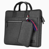 EXCPDT Laptop Sleeve Bag Compatible14 Inch MacBook Pro, MacBook Air, Notebook, Slim Water Resistant Protective Carrying Case for Business Casual or School (Black)