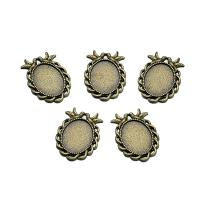 Beadthoven 10pcs Vintage Tibetan Style Alloy Bird Pendant Cabochon Bezel Settings Fit Oval Tray Blanks Trays in 25x18mm Pendant Size 38x27x2mm Hole: 4mm (Nickel Free, Antique Bronze