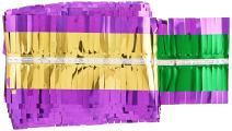 "Beistle 55208-GGP Party Supplies, 3¾"" x 25', Gold/Green/Purple"
