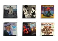 Hudson Hi-Fi LP Vinyl Record Wall Display–Black Satin–Display Your Daily Listening in Style–Four Pack