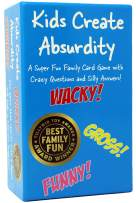Kids Create Absurdity: Laugh Until You Cry! A Fill in The Blank Family-Card-Game for Kids with Funny Questions and Hilarious Answers Fun for Kids-Adults-Boys-Girls Great Gift for Family Game Night