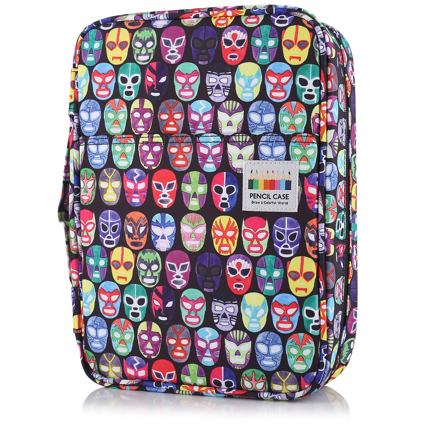 Shulaner Colored Pencil Case Slot Holds 220 Pencils or 144 Gel Pens with Zipper Closure Large Capacity Nylon Pen Organizer for Student or Artist (Facial Makeup, 220)