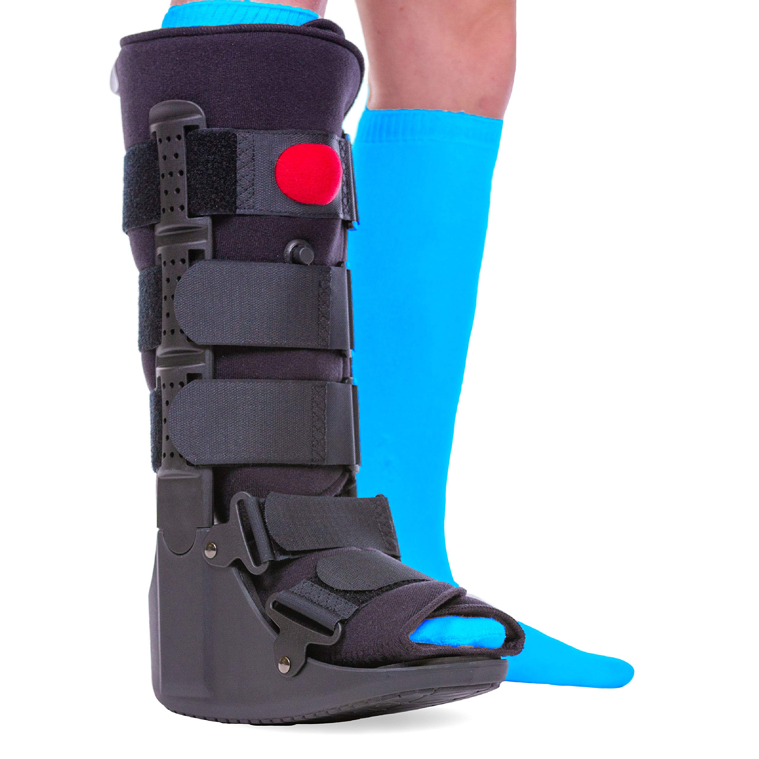 BraceAbility Tall Pneumatic Walking Boot   Orthopedic CAM Air Walker & Inflatable Surgical Leg Cast for Broken Foot, Sprained Ankle, Fractures or Achilles Surgery Recovery (Medium)
