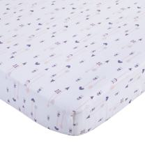 NoJo 100% Cotton Fitted Crib Sheet, Arrows, Lavender/Pink/White