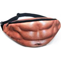 Fanny Pack for Men and Women Dad Bag Fake Belly Funny Fashion Waist Pack Bag Unisex with Adjustable Belt Water Resistant for Outdoor Travel Hiking Running