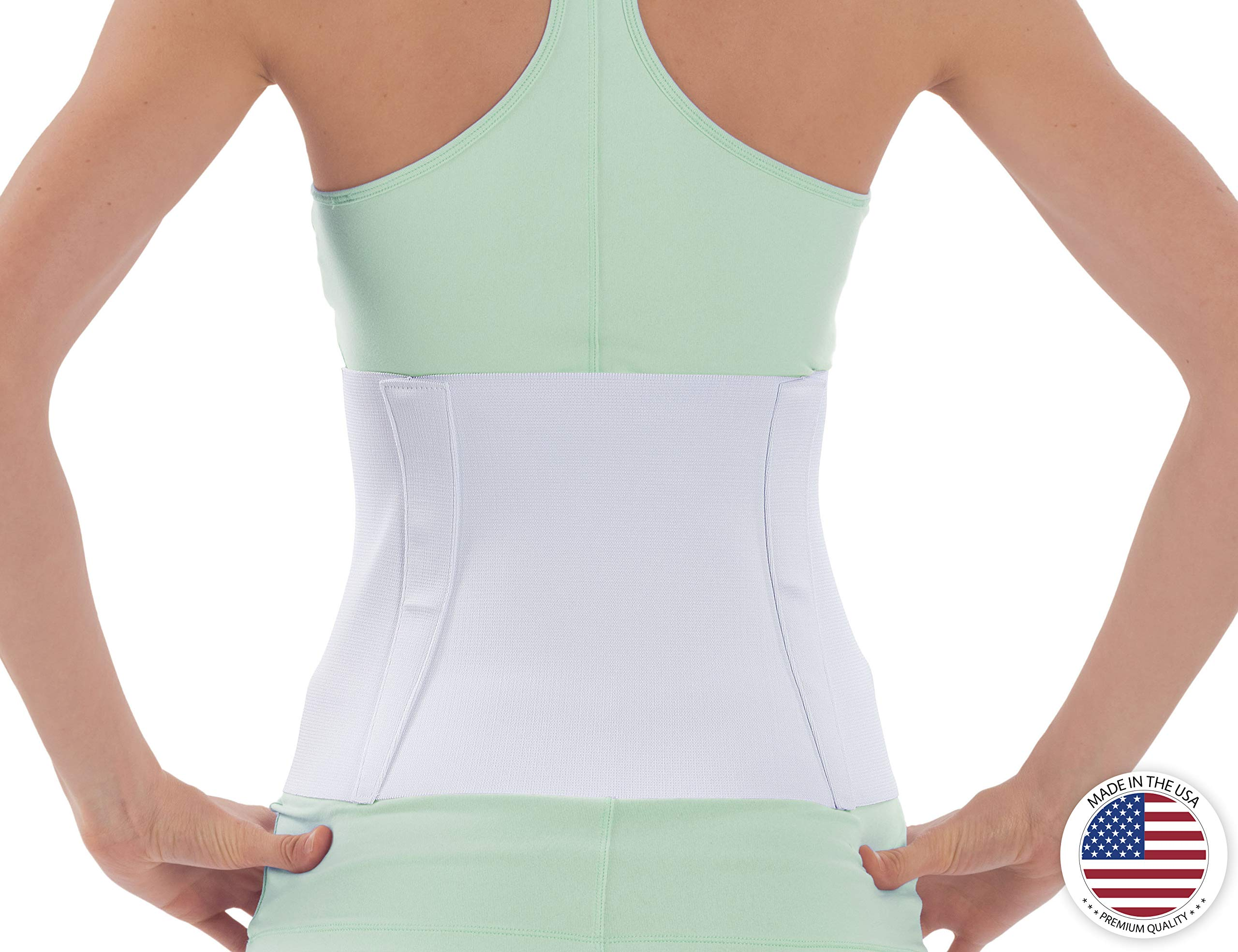 NYOrtho Tapered Abdominal Binder Compression Wrap - Breathable Stomach Support Post Injury or Surgery- with Contoured Body-Specific Design - 36-42 Inch