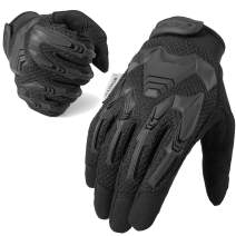 WTACTFUL Rubber Guard Protective Full Finger Tactical Gloves for Airsoft Hunting Cycling Motorbike
