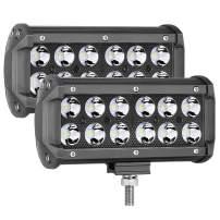 LED Pods, OFFROADTOWN 7inch 72W LED Work Light CREE Driving Light Spot Beam Off road Fog lights Waterproof LED Cubes for Trucks Jeep ATV UTV SUV Boat Lamp