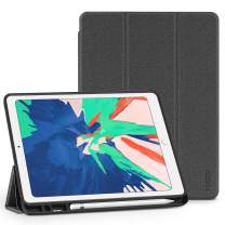 TUCCH iPad Air 3 10.5-inch 2019 Smart Cover, PU Leather Slim Viewing Typing Angles Stand Protective Case with Auto Wake/Sleep [Pencil Holder] Compatible with iPad Air 3rd Gen, Grey
