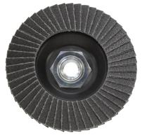KGS Hybrid T diamond flap disc 4.5 inch x 5/8 inch-11 Metal Thread Adapter (Grit 120 (black))