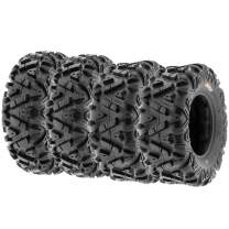 SunF Power.I 26x9-12 & 26x11-12 AT All-Terrain 6PR ATV/UTV Tire Bundle [Set of 4] Front/Rear A033