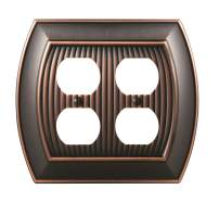Amerock Sea Grass 2 Receptacle Oil-Rubbed Bronze Wall Plate