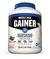 Muscle Milk Gainer Protein Powder, Cookies 'N Crème, 32g Protein, 5 Pound