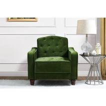 Novogratz Vintage Tufted Armchair, Green