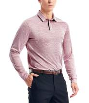 Dry Fit Long Sleeve Golf Polo Shirts for Men