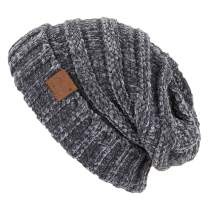 Funky Junque Trendy Warm Oversized Chunky Soft Oversized Cable Knit Slouchy Beanie
