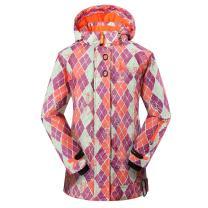 PHIBEE Women's Outdoor Waterproof Windproof Fleece Snowboard Ski Jacket