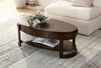 """Martin 48 1/4"""" Wide Traditional Ash Oval Coffee Table - Elm Lane"""