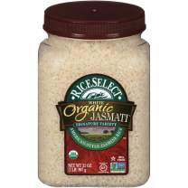 RiceSelect Organic Jasmati Rice, 32-Ounce Jars, 4-Count