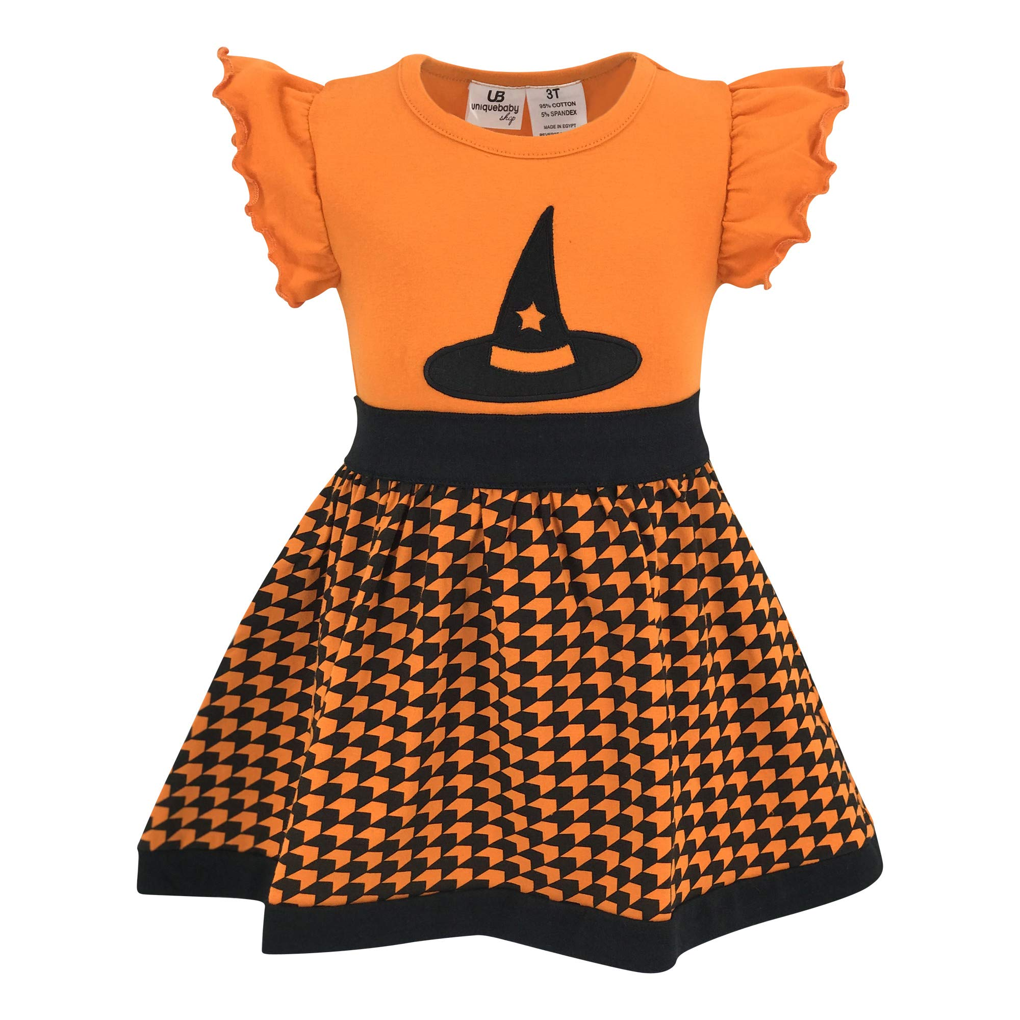 Unique Baby Girls Witch Hat Halloween Shirt Dress