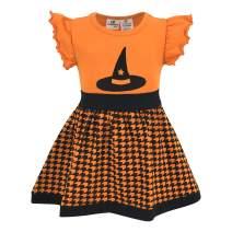 Unique Baby Girls Witch Hat Halloween Shirt Dress