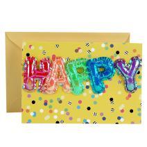 Hallmark Signature Birthday Card (Mylar Balloons)