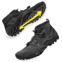 SOBASO Mens Hiking Shoes Trail Running Shoes Stylish Slip Resistant Fitness Walking Jogging Sock Sneakers