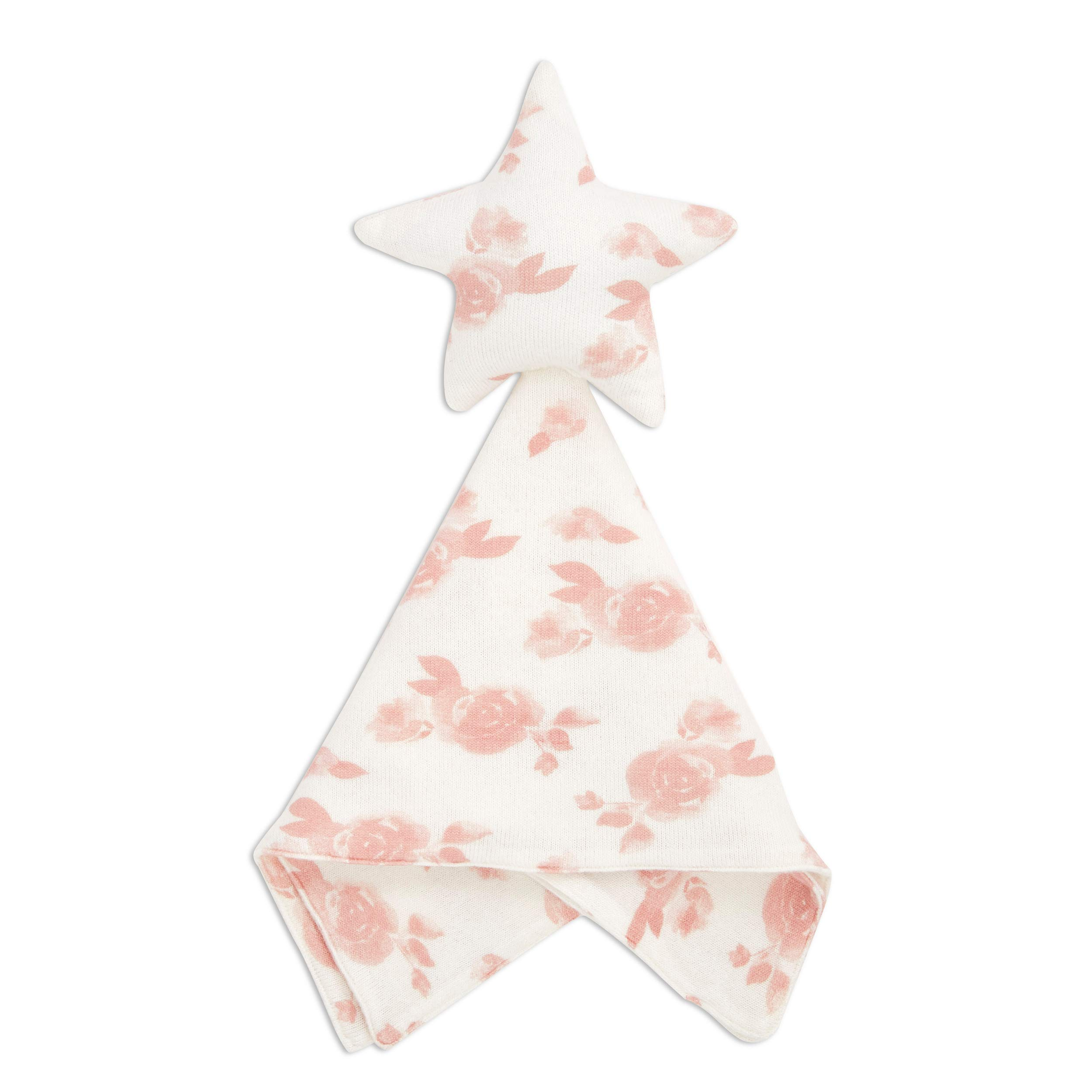 aden + anais Snuggle Knit Star Baby Lovey Comfort Item, Super Soft and Stretchy Security Blanket, Rosettes
